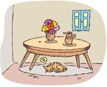 209226115 Cat Under The Table Clipart For Cat Under The Table.