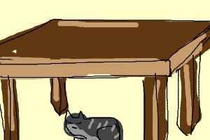 Cat under the table clipart 5 » Clipart Station.