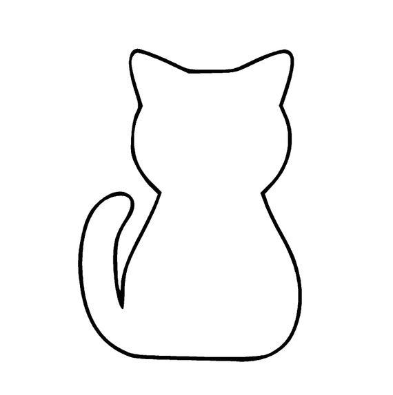 Cat SVG and PNG Digital Download.
