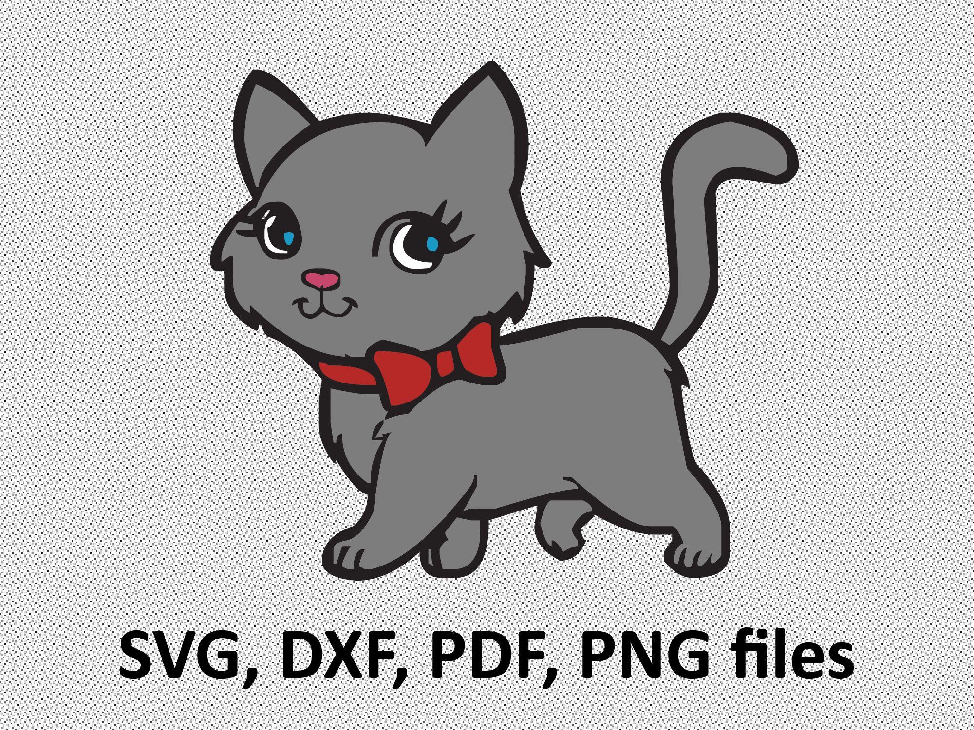 Cat SVG / Cat DXF/ Cat Clipart / Cat Files, printing design, cutting.
