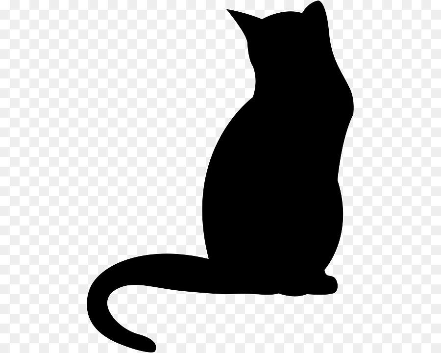 Black cat Kitten Polydactyl cat Clip art.