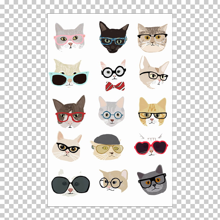 Cat Dog Glasses, Cat PNG clipart.