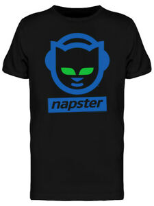 Details about Napster Cat Headphones Logo Men\'s Black T.