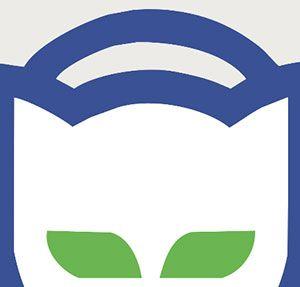 Blue Cat with Headphones Logo.