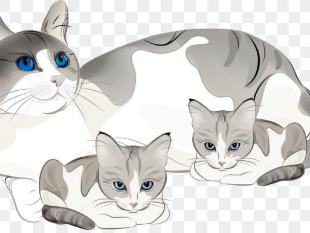 Kittens clipart mother cat, Kittens mother cat Transparent.
