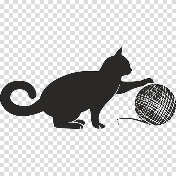 Cat Kitten Yarn , Cat transparent background PNG clipart.