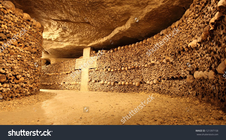 Paris Catacombs Stock Photo 121397158 : Shutterstock.