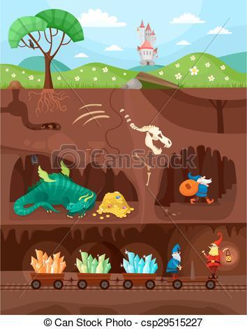 Vector Illustration of catacomb world.