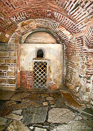 Christian Catacombs At Fabrica Hill, Paphos, Cyprus, Royalty Free.