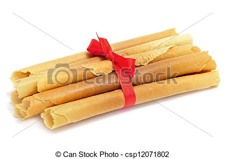 Stock Photography of neulas, typical catalan christmas sweets, on.
