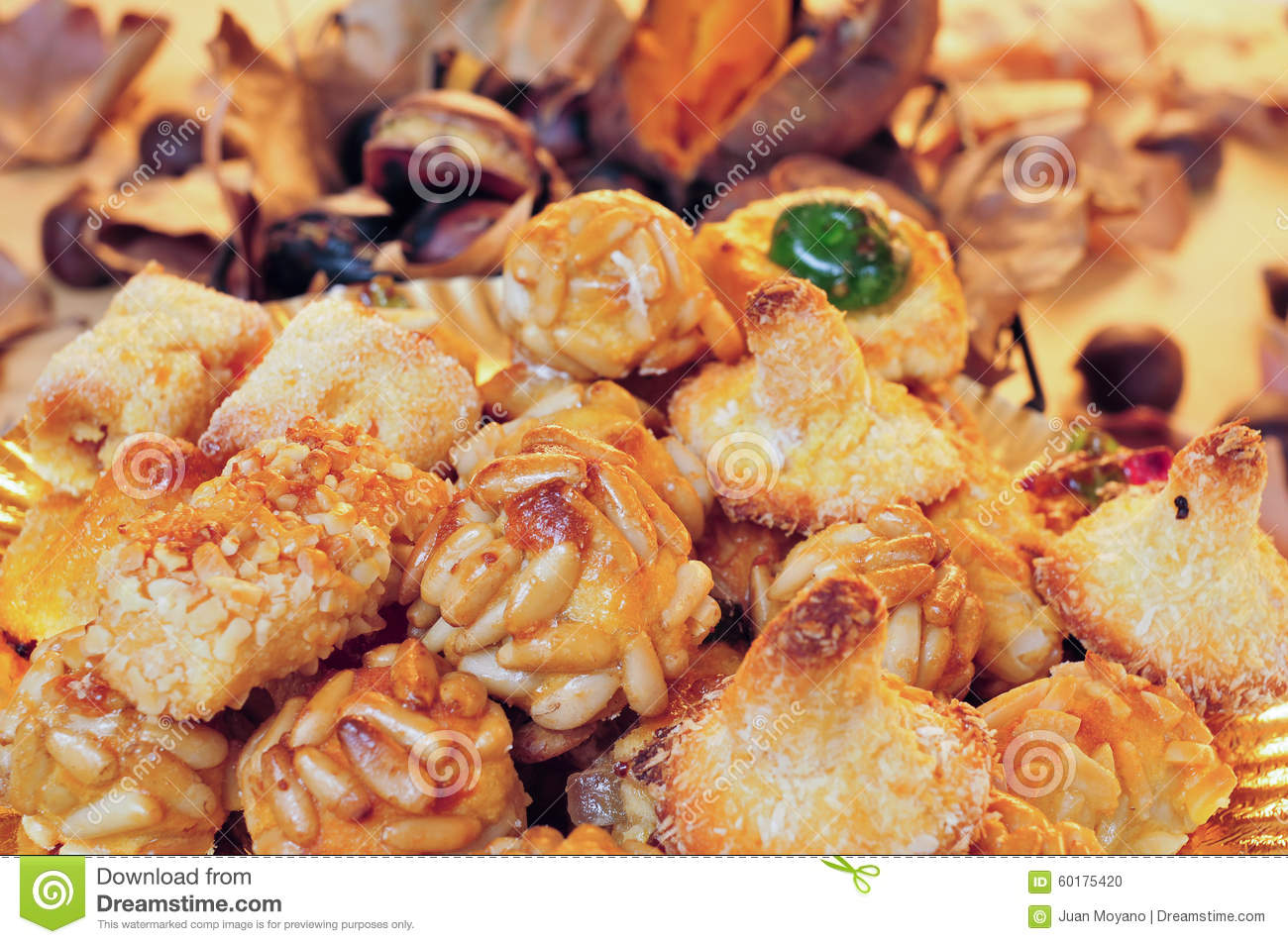 Panellets, Typical Sweet Food In All Saints Day In Catalonia, Sp.
