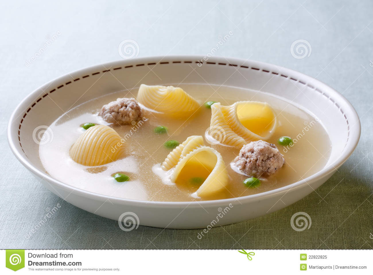 Catalan Cuisine. Soup With Meat Of The Pot Royalty Free Stock.