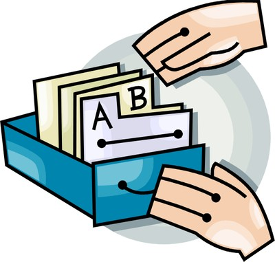 Card Catalog Clip Art — Garnavillo Public Library.