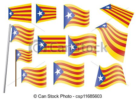 Vector Clipart of flag of Catalonia.