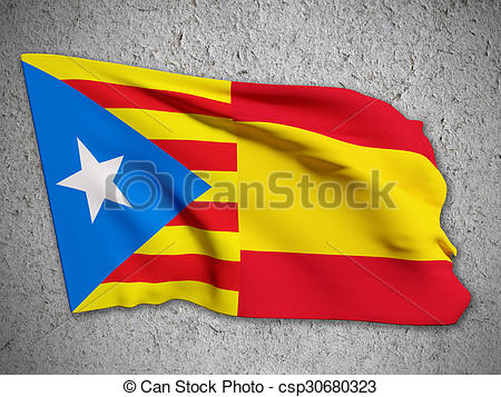 Clip Art of catalonia and spain flag.
