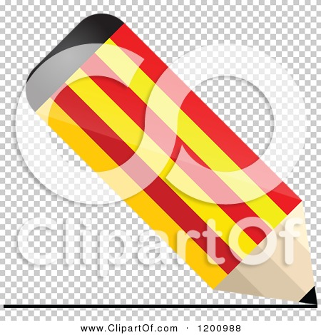 Clipart of a 3d Writing Catalonia Flag Pencil.
