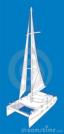 Catamaran Stock Illustrations.