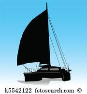 Catamaran Clipart Vector Graphics. 65 catamaran EPS clip art.