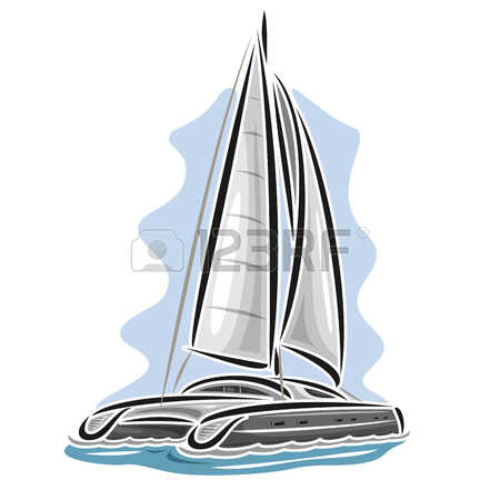 148 Catamaran Stock Vector Illustration And Royalty Free Catamaran.