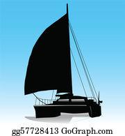 Catamaran Clip Art.