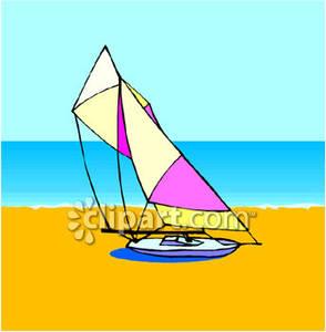 Catamaran Sailboat.