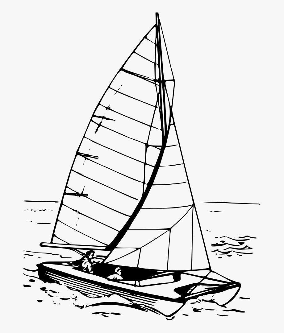 Catamaran Boat Clipart , Transparent Cartoon, Free Cliparts.