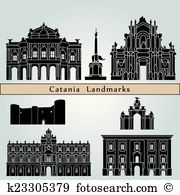 Catania vector Clipart and Illustration. 36 catania vector clip.