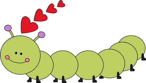 Cute Caterpillar Clipart.