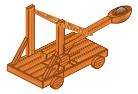 Catapult clip art Free Vector.