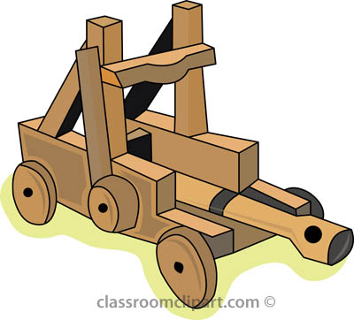 Weapons : medieval_catapult_0407 : Classroom Clipart.