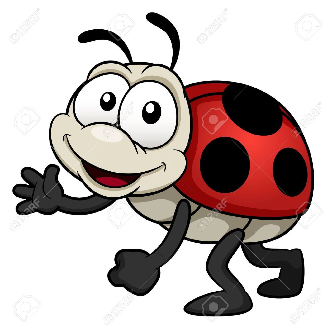 Illustration Of Cartoon Lady Bug Royalty Free Cliparts, Vectors.