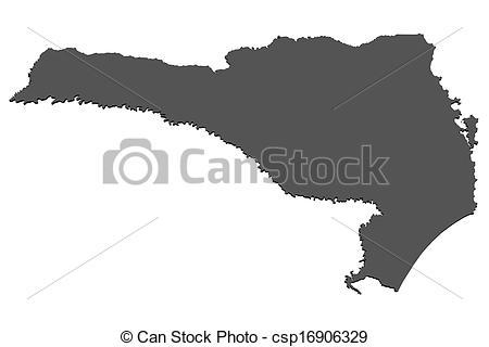 Clip Art of Map of Santa Catarina.