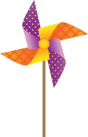Pinwheels illustrations.