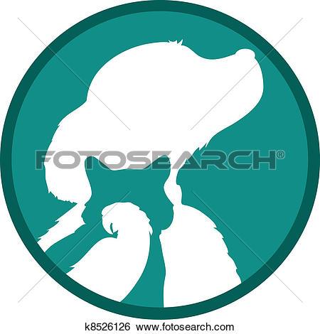 Clip Art of Dog Cat Bird k8526126.