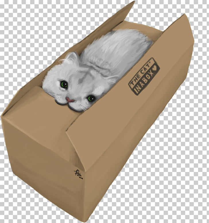 Cardboard Carton, Cat Box PNG clipart.