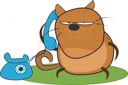 I love this cat on the telephone..