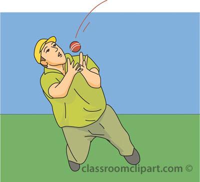 Cricket catch clipart.