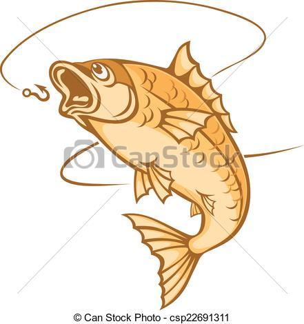Vector Clip Art of Catch a fish.
