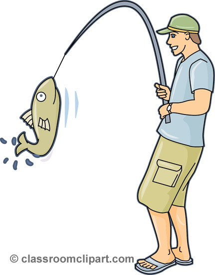 Catching fish clipart #7