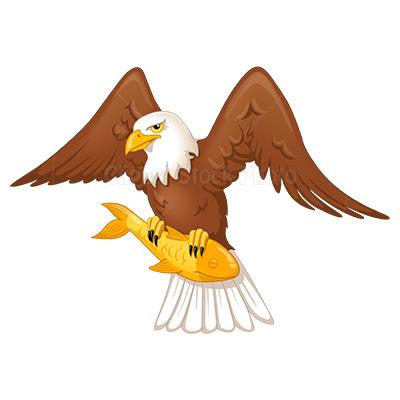 Fish eagle clipart.