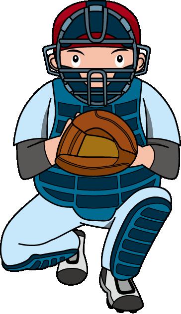 Baseball Player Clipart Catcher.
