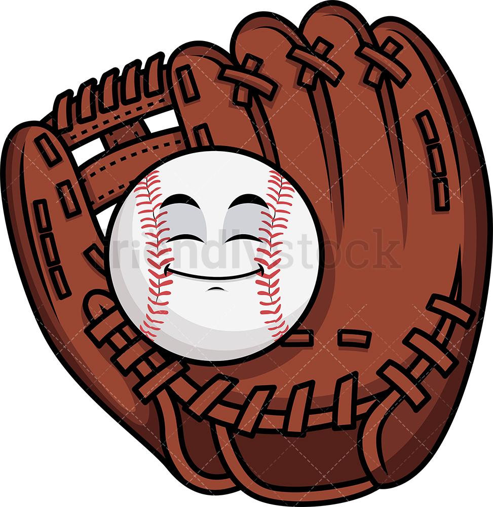 Baseball In Catcher's Mitts Emoji.