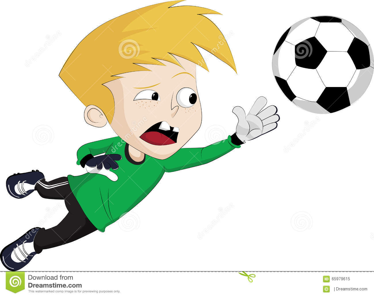Football Goalkeeper Catch Ball Stock Illustrations.