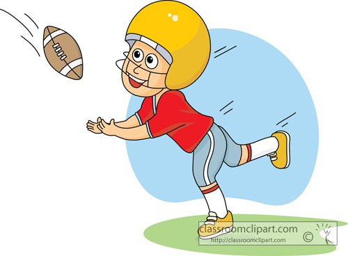 Catching A Football Clipart.