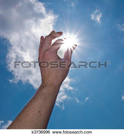 Stock Images of hand catch the sun k3736996.