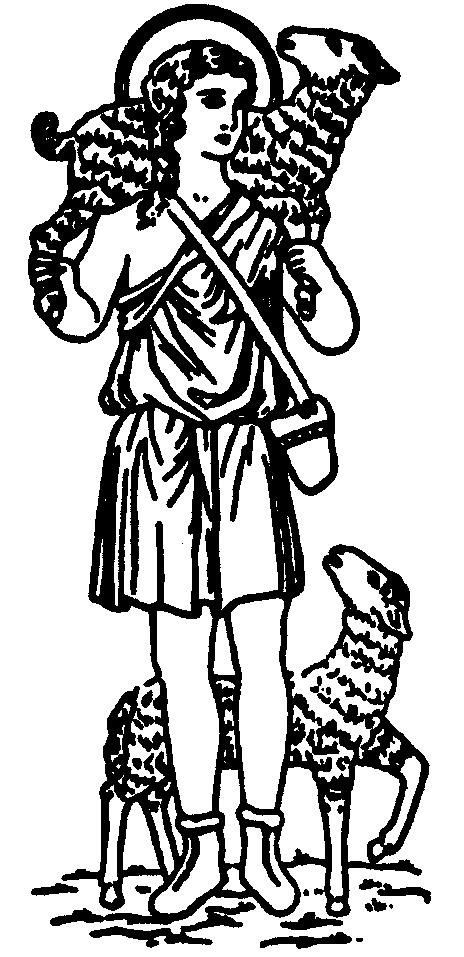 Good Shepherd Line Drawing Clipart Best.