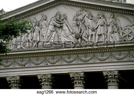 Stock Images of COLUMN & historic BAS RELIEF on the CATEDRAL.