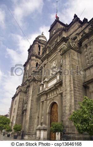 Stock Image of Catedral Metropolitana de Mexico.