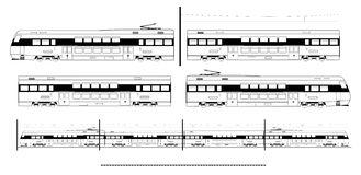 Ave Train Catenary Stock Illustrations.
