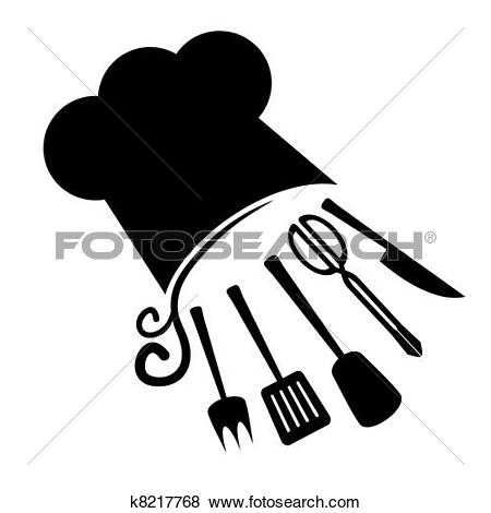 Clipart of catering vector silhouettes k4699961.